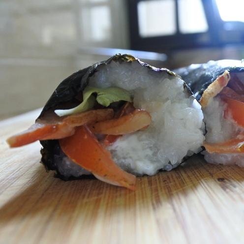 BLT sushi rolls (10)