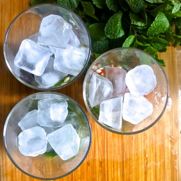 Add a handful of ice